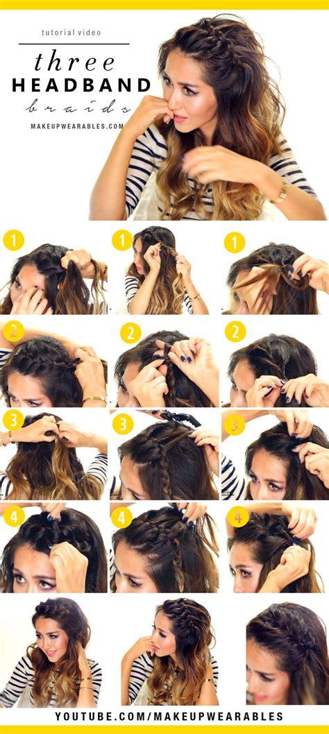 waterfall braid headband step by step how to do a waterfall braid easy tutorial male models
