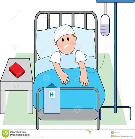 cama hospital website hombre en cama de hospital ilustraci 243 n del vector