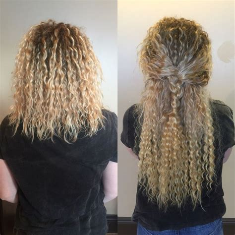 22 inch hair extensions before and after blonde curly extensions before and after by jandy taylor