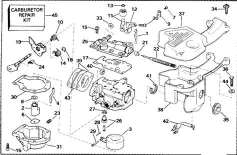 johnson carburetor parts for 1992 9 9hp j10rena outboard motor