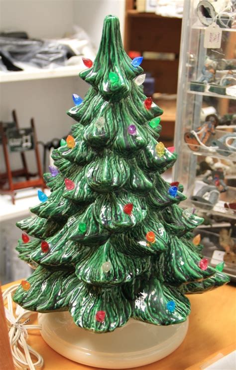 found in ithaca 187 vintage ceramic light up christmas tree