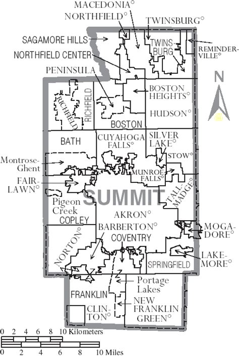 Summit County Ohio Search File Map Of Summit County Ohio With Municipal And Township Labels Png Wikimedia Commons