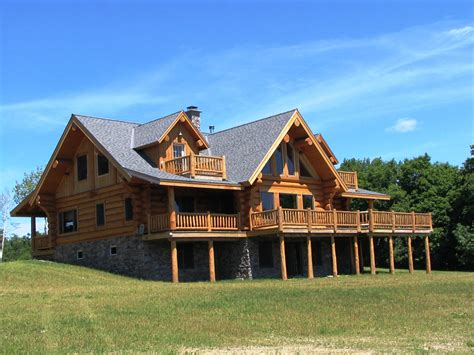 handcrafted canadian log home plans canada s log