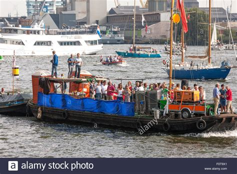 amsterdam party boat from hull improvised boat stock photos improvised boat stock