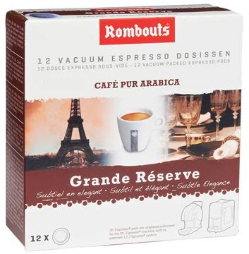 rombouts koffiemachine rombouts 1 2 3 espresso 174 koffiepads grande r 233 serve