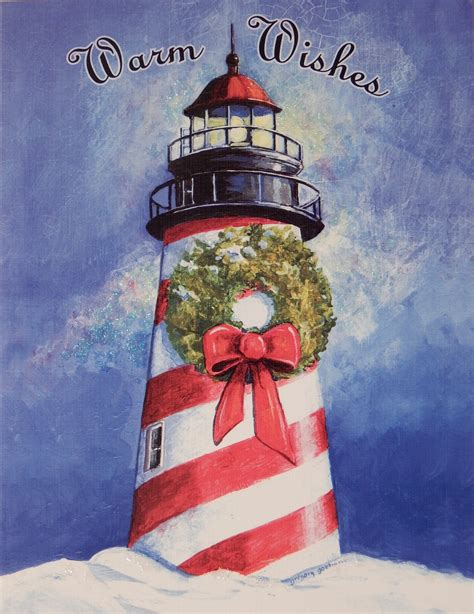 nautical cape cod christmas cards quot warm wishes quot lighthouse cards 828 sold out by lang