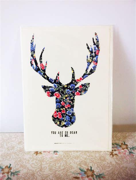 Handmade Reindeer Cards - made fabric reindeer card free p p on luulla
