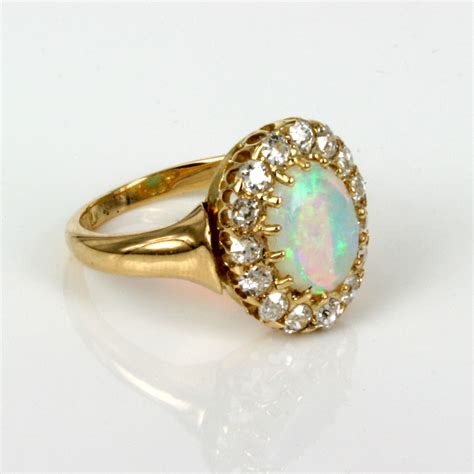 Antique Rings by Buy Antique Opal Cluster Ring Made In 1891 Sold