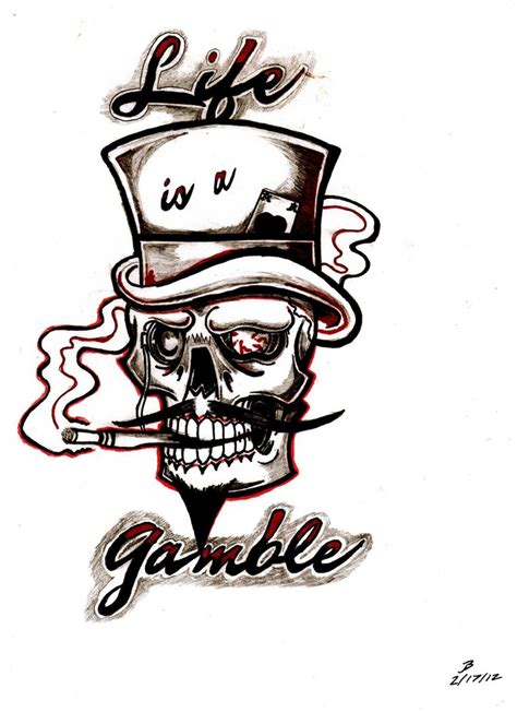 skull with hat tattoo designs images designs