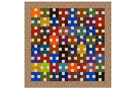 Patchwork Quilt Blocks Patterns - scrappy patchwork quilt pattern with easy h blocks