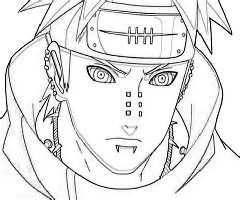 pain naruto coloring pages free coloring pages of yahiko pain