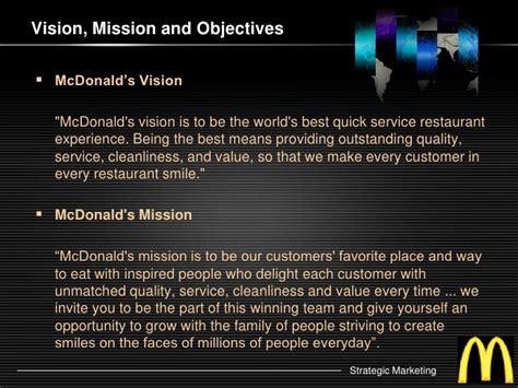 87518641 mcdonalds vision and mission statement