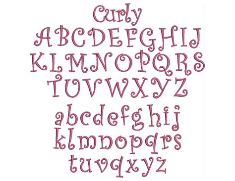 curly pattern font 6 best images of curly font letter c curly font