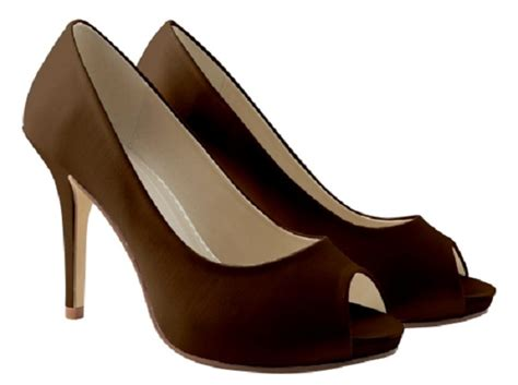 Brown Wedding Shoes by Chocolate Brown Satin Platform Shoes Wedding Shoes By