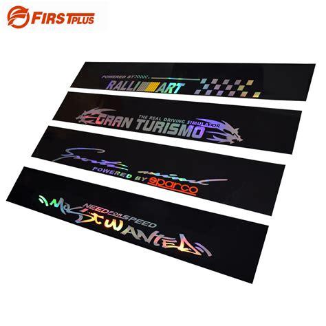 new car window sticker aliexpress buy new laser reflective letters auto car
