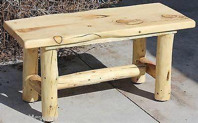 rustic log bench cabin lodge country log furniture