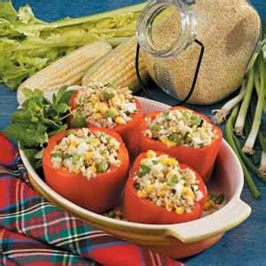 gallery for gt millet side dish recipes millet stuffed red peppers recipe taste of home