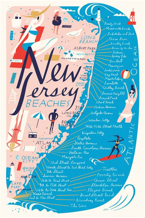 the new jersey coast and pines an illustrated guide book with road maps classic reprint books libby vanderploeg illustrated maps