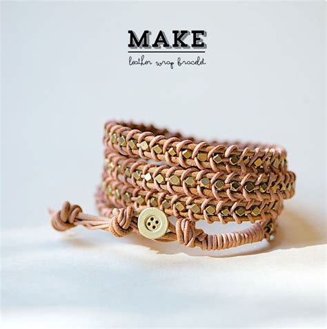 wrap bracelet diy diy leather wrap bracelet poppytalk