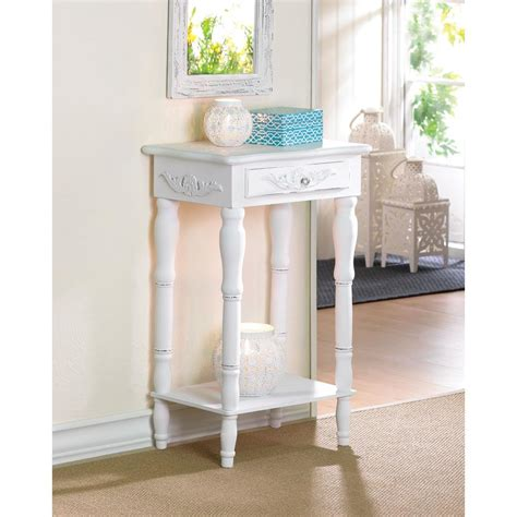 distressed white wood accent table wholesale at koehler
