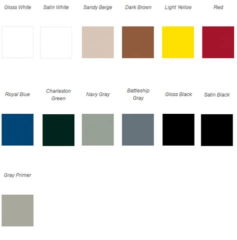 acrylic enamel car paint color chart autos post