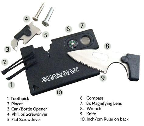 card tools pocket knife credit card survival tool 10 tools