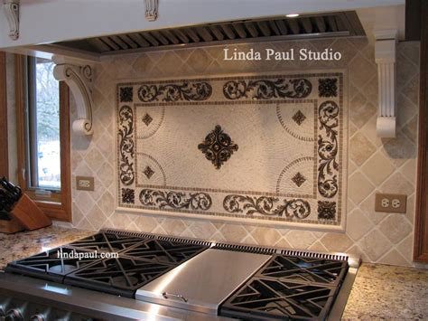 kitchen backsplash medallions metal flower accent tiles for kitchen backsplashes