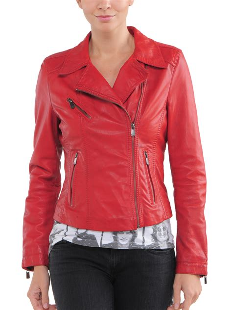ladies leather motorcycle womens red leather jacket jackets review