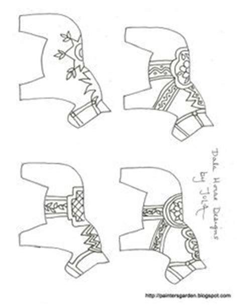 dala horse coloring page dala horse pattern use the printable outline for crafts