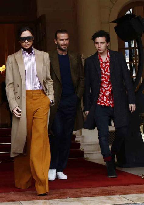david victoria beckham biography victoria david brooklyn beckham family take stylish
