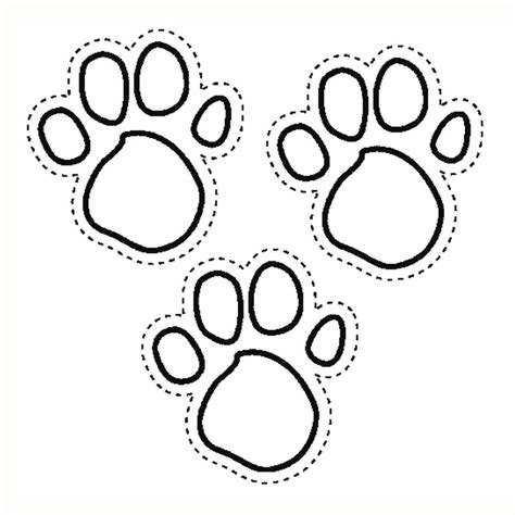 paw print coloring pages az coloring pages