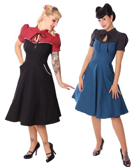 swing kleider 50er neyla 50er retro polka dots swing petticoat kleid v