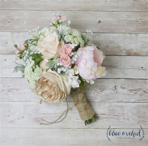Wedding Bouquet Of Flowers by Boho Bouquet Silk Flower Bouquet Wedding Bouquet Bridal