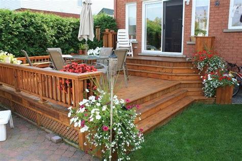 Small Backyard Deck Patio Ideas Small Backyard Decks Patios
