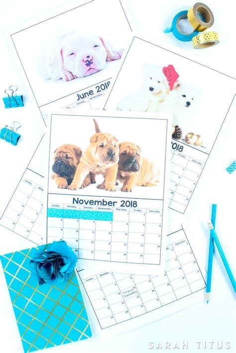 printable  puppy calendars sarah titus