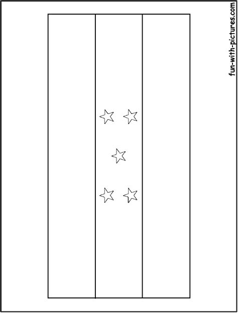 Free Honduras Flag Coloring Pages Honduras Flag Coloring Page