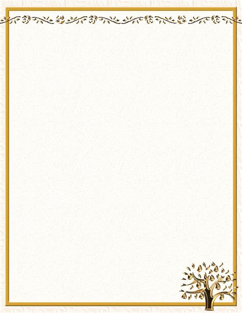 fall leaves stationery printable autumn or fall free stationery com template downloads