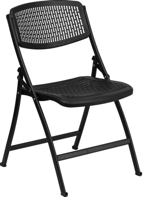 Folding Living Room Chair Hercules Series 990 Lb Black Designer Comfort Molded Folding Chair Contemporary Living Room