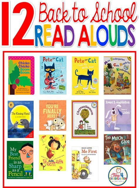 best books to read time 4 kindergarten the best back to school read aloud books