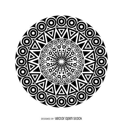 Desenho tribal mandala   Baixar Vector