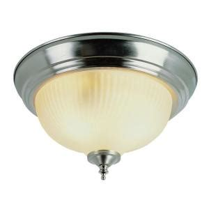 2 light brushed nickel flushmount with clear glass 13013