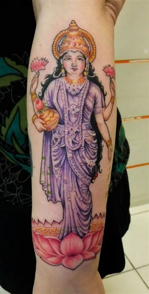 lakshmi tattoo designs 27 fascinating hindu tattoos creativefan