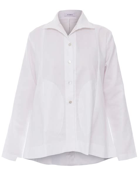 vitamin blouses white button down cotton shirt vitamin shirts halsbrook