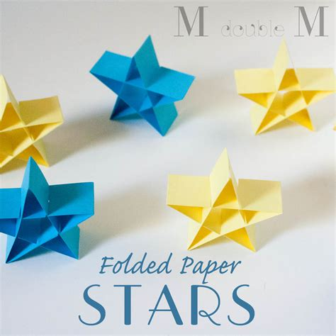 How To Make The Folded Paper - m m folded paper diy