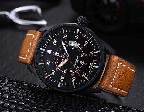 Naviforce Original Brown Leather naviforce nf9044 quartz analog date desplay brown lazada malaysia