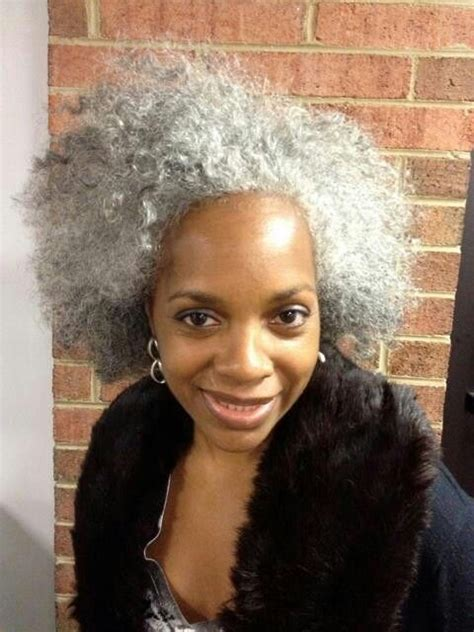 hairstyles for natural grey hair grey is gorgeous natural hair styles pinterest