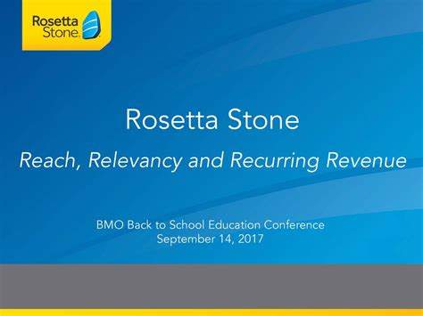 rosetta stone ipo rosetta stone rst presents at bmo capital markets back