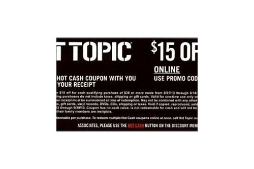 hot topic coupon code april 2018