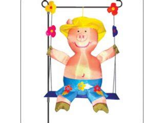 swinging pig garden charm swinging pig kite stop kites windsocks