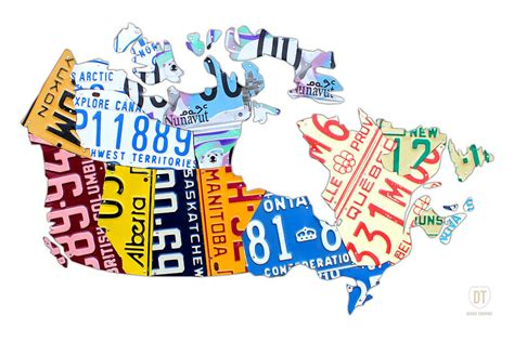 81 Curtain Road License Plate Map Of Canada On White Mixed Media By Design